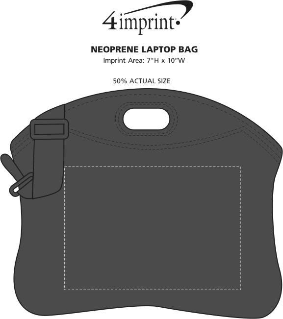 Imprint Area of Neoprene Laptop Bag