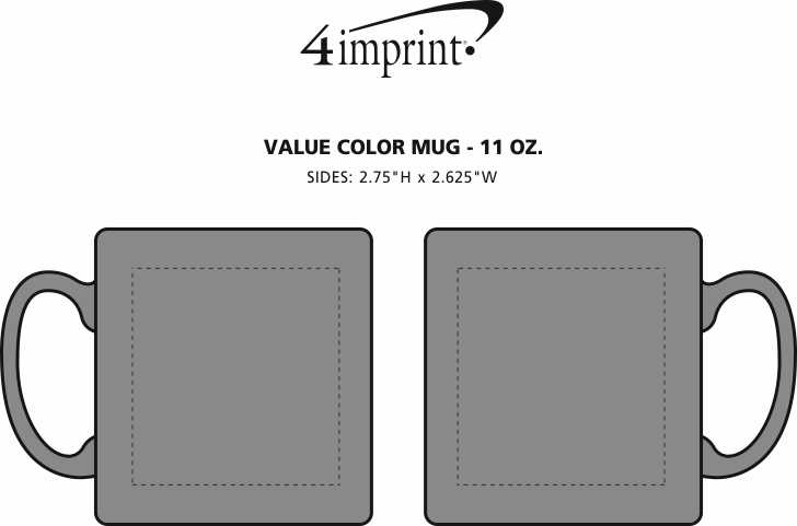 Imprint Area of Value Color Coffee Mug - 11 oz.
