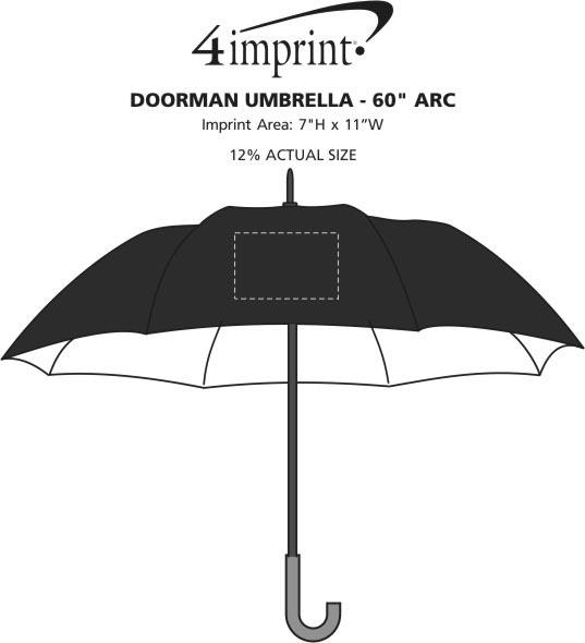 """Imprint Area of Doorman Umbrella - 60"""" Arc"""