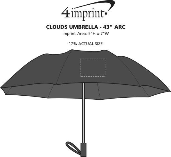 "Imprint Area of Clouds Umbrella - 48"" Arc"