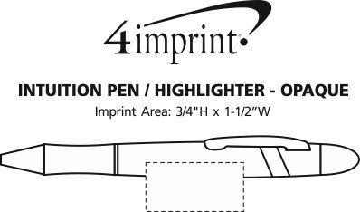 Imprint Area of Intuition Pen/Highlighter - Opaque