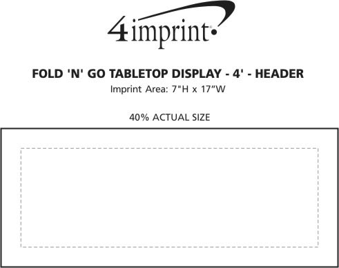 Imprint Area of Fold N Go Tabletop Display - 4' - Header