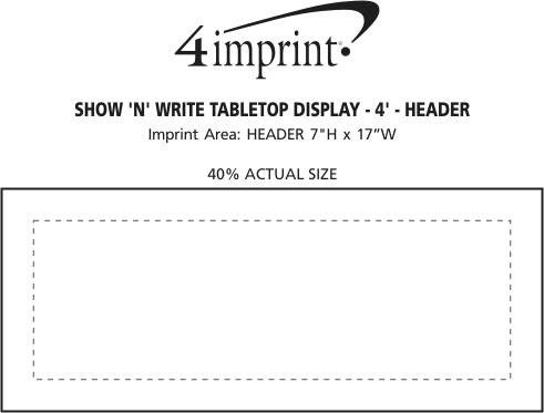 Imprint Area of Show N Write Tabletop Display - 4' - Header