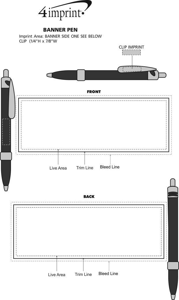 Imprint Area of Banner Pen