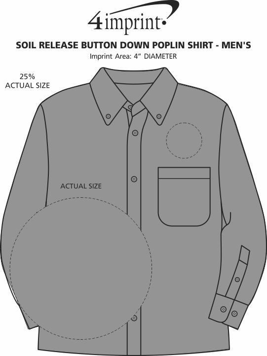 Imprint Area of Soil Release Button Down Poplin Shirt - Men's