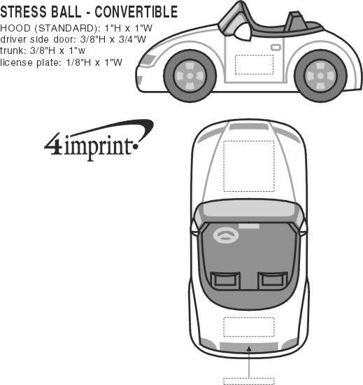 Imprint Area of Convertible Car Stress Reliever