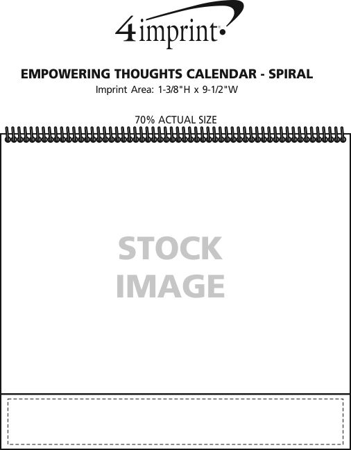 Imprint Area of Empowering Thoughts Calendar - Spiral