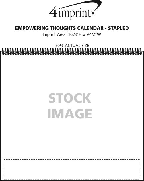 Imprint Area of Empowering Thoughts Calendar - Stapled