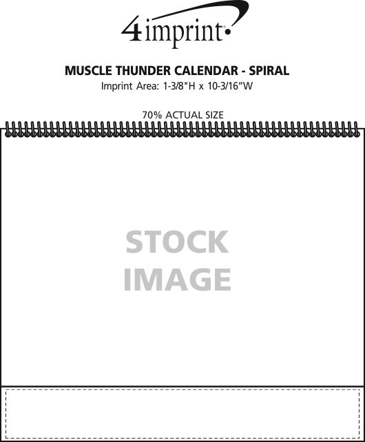 Imprint Area of Muscle Thunder Calendar - Spiral