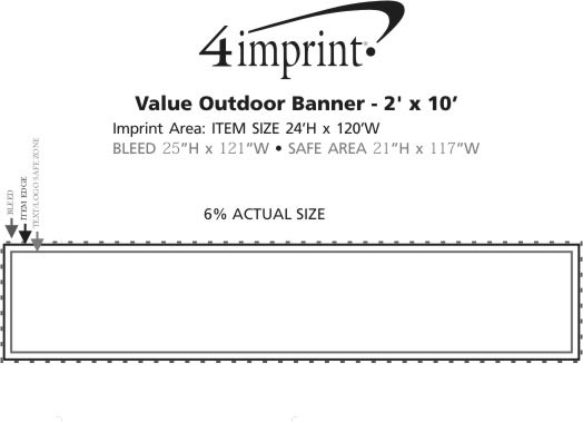 Imprint Area of Value Outdoor Banner - 2' x 10'