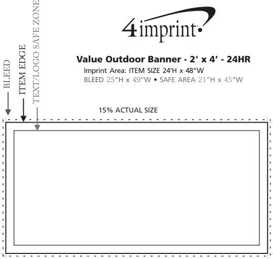 Imprint Area of Value Outdoor Banner - 2' x 4' - 24 hr