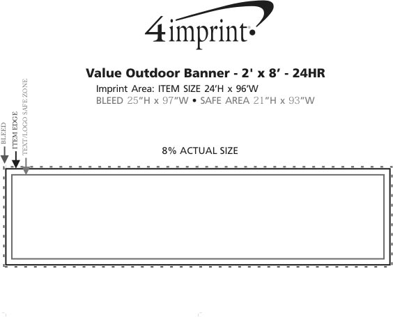 Imprint Area of Value Outdoor Banner - 2' x 8' - 24 hr