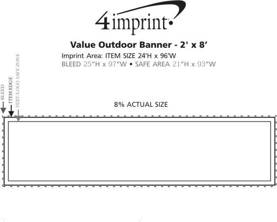 Imprint Area of Value Outdoor Banner - 2' x 8'