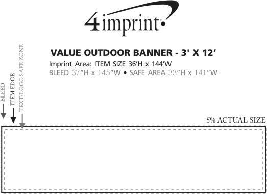 Imprint Area of Value Outdoor Banner - 3' x 12'