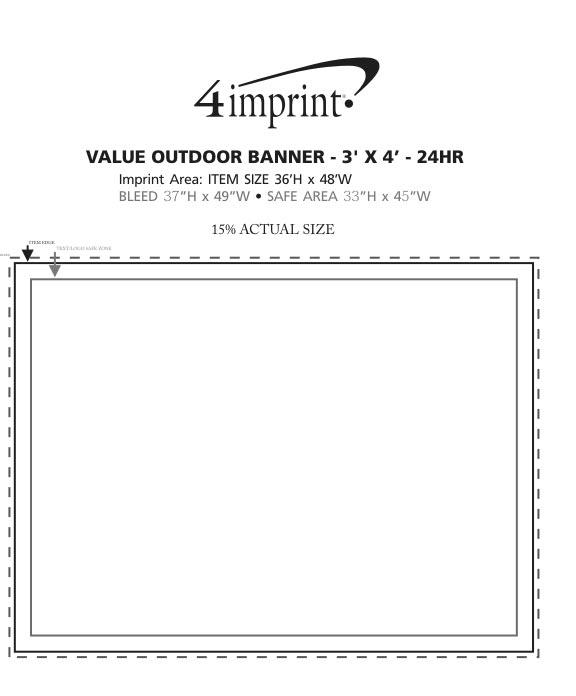 Imprint Area of Value Outdoor Banner - 3' x 4' - 24 hr