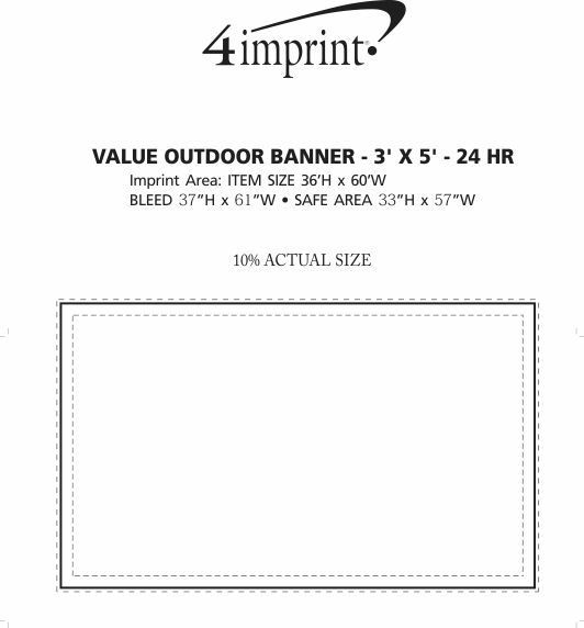Imprint Area of Value Outdoor Banner - 3' x 5' - 24 hr