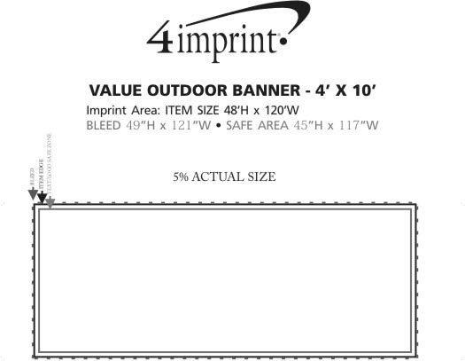 Imprint Area of Value Outdoor Banner - 4' x 10'