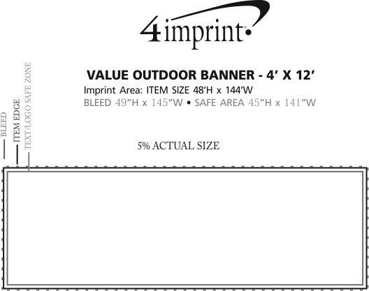 Imprint Area of Value Outdoor Banner - 4' x 12'