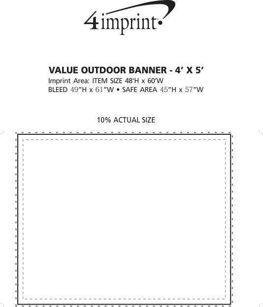 Imprint Area of Value Outdoor Banner - 4' x 5'