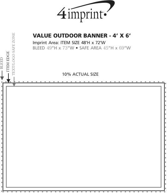 Imprint Area of Value Outdoor Banner - 4' x 6'