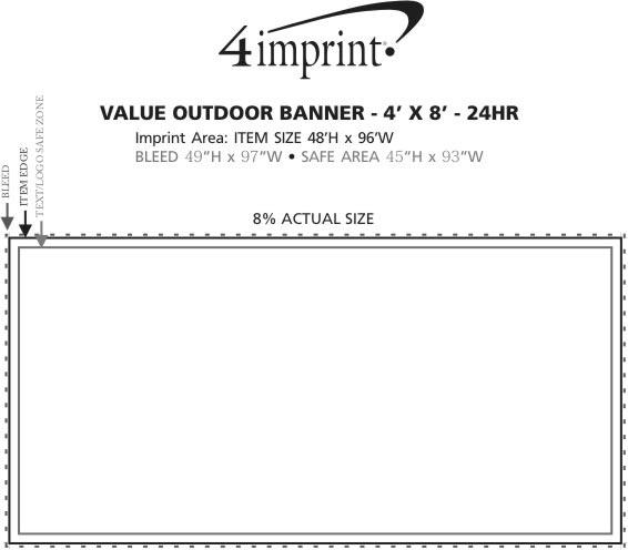 Imprint Area of Value Outdoor Banner - 4' x 8' - 24 hr