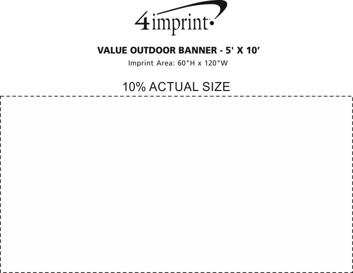 Imprint Area of Value Outdoor Banner - 5' x 10'