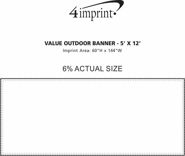 Imprint Area of Value Outdoor Banner - 5' x 12'