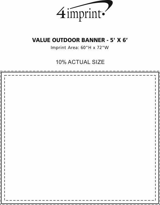 Imprint Area of Value Outdoor Banner - 5' x 6'