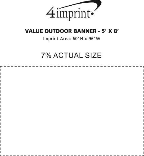 Imprint Area of Value Outdoor Banner - 5' x 8'