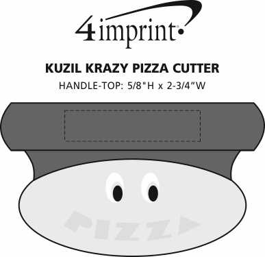 Imprint Area of Kuzil Krazy Pizza Cutter