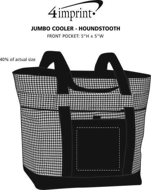 Imprint Area of Jumbo Cooler - Houndstooth