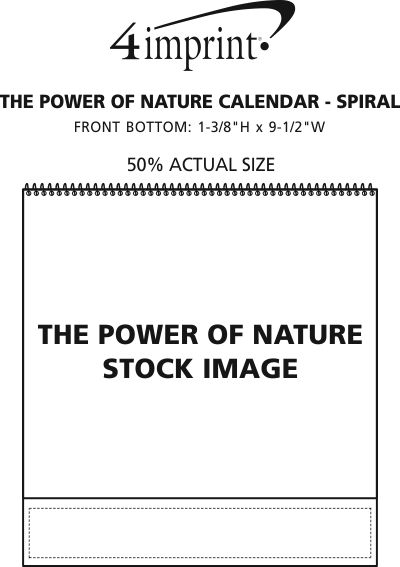 Imprint Area of The Power of Nature Calendar - Spiral