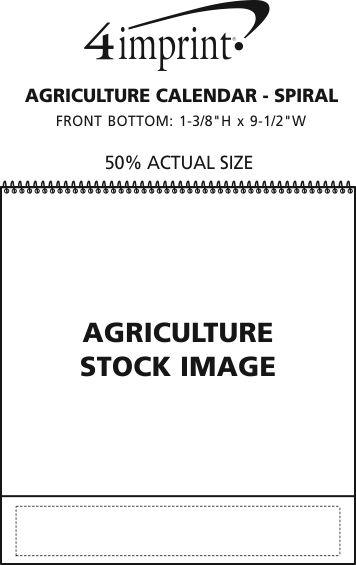 Imprint Area of Agriculture Calendar - Spiral
