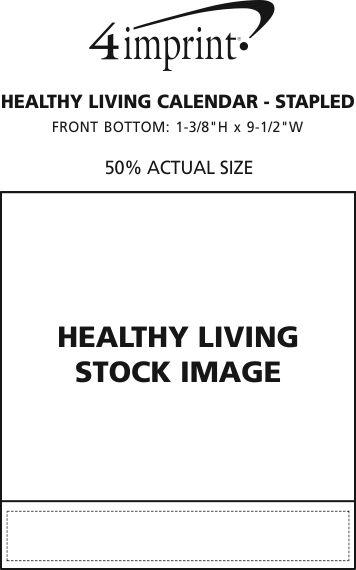Imprint Area of Healthy Living Calendar - Stapled