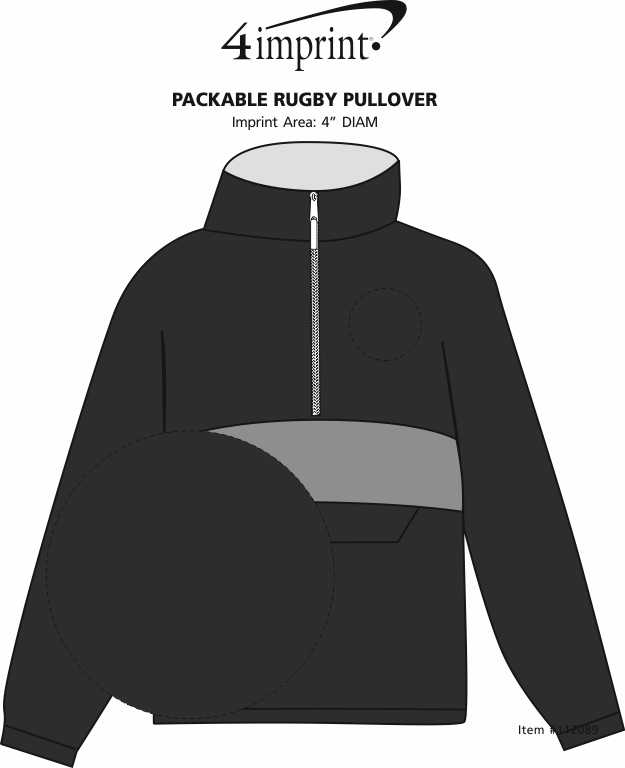 Imprint Area of Packable Rugby Pullover