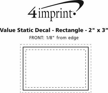 """Imprint Area of Static Decal - Rectangle - 2"""" x 3"""""""