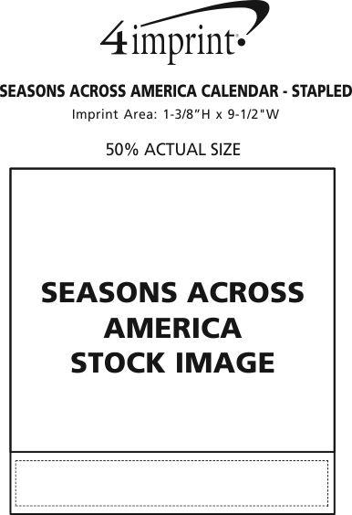 Imprint Area of Seasons Across America Calendar - Stapled