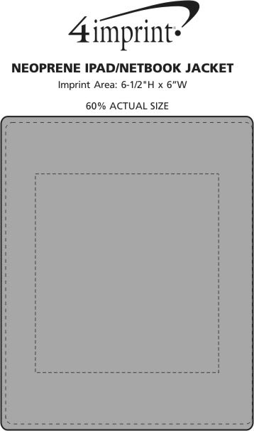 Imprint Area of Neoprene iPad/Netbook Jacket