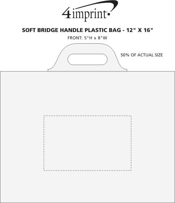 "Imprint Area of Soft Bridge Handle Plastic Bag - 12"" x 16"""