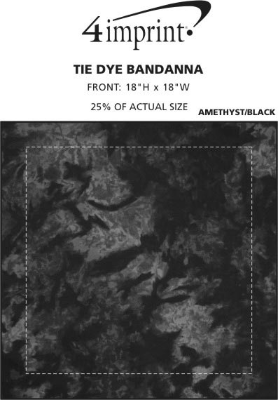 Imprint Area of Tie-Dye Bandana