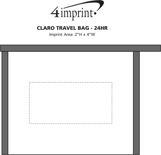 Imprint Area of Claro Travel Bag - 24 hr