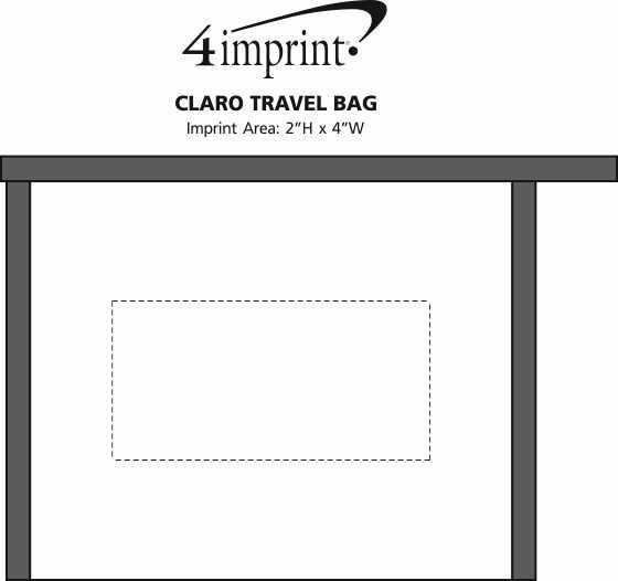 Imprint Area of Claro Travel Bag