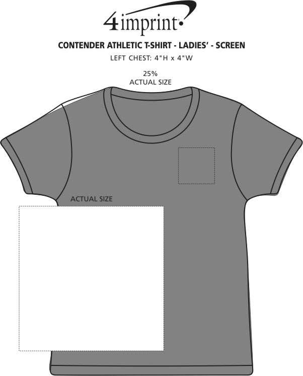 Imprint Area of Contender Athletic T-Shirt - Ladies' - Screen
