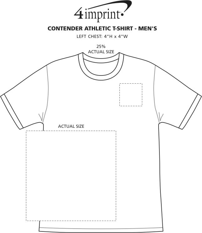 Imprint Area of Contender Athletic T-Shirt - Men's - Screen
