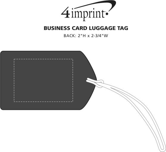 Imprint Area of Business Card Luggage Tag