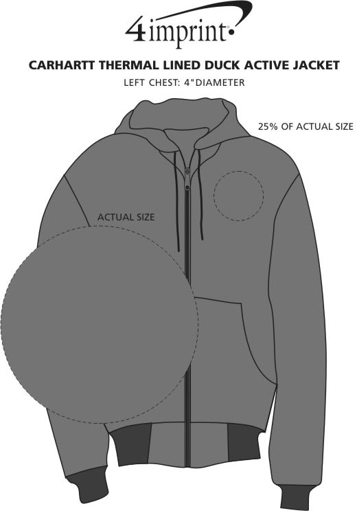 Imprint Area of Carhartt Thermal Lined Duck Active Jacket