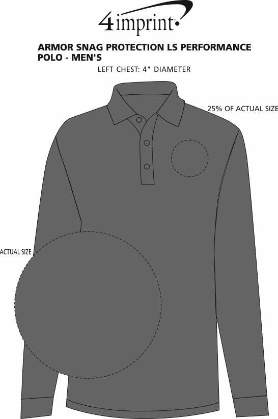 Imprint Area of Armor Snag Protection LS Performance Polo - Men's