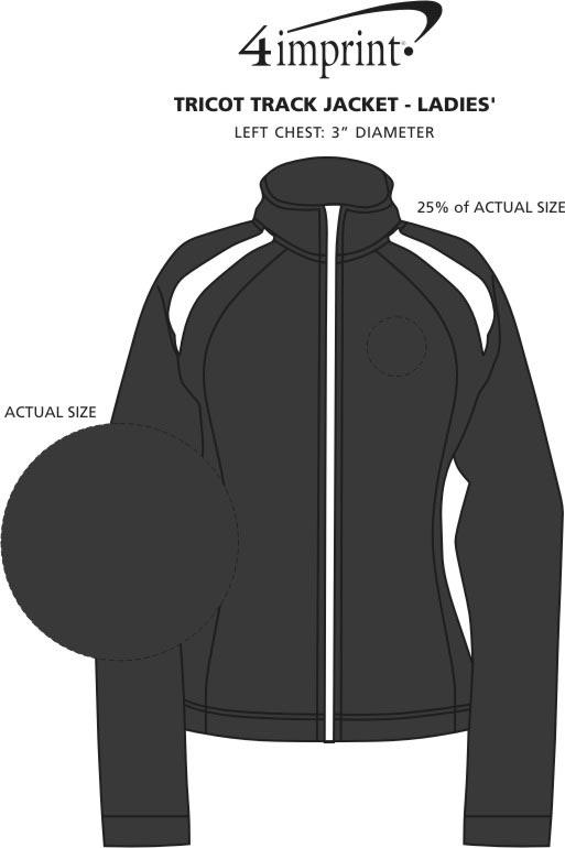 Imprint Area of Tricot Track Jacket - Ladies'
