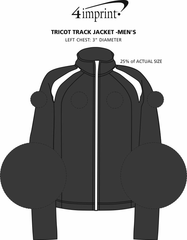 Imprint Area of Tricot Track Jacket - Men's