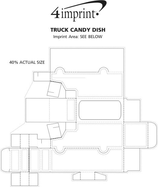 Imprint Area of Truck Candy Dish